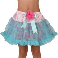 Petticoat turquoise with flowers