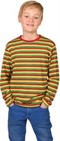 Striped shirt red/yellow/green