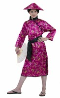 Japanese (cerise) 2 pcs dress, scarf