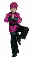 Japanese (cerise) 3 pcs trouser, blouse, scarf