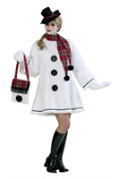 Snowwoman luxury (dress, hat, scarf, gloves)