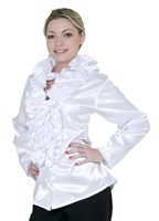 Ruffle blouse white lady