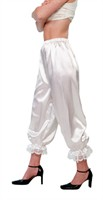 White 3/4 trousers (satin)