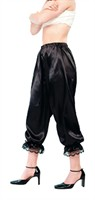 Black 3/4 trousers (satin)