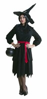 Witch black Halloween (dress/belt) aruba