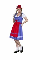 Tyrolean Moni Oktoberfest blue/white dotted  dress,apron