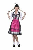 Tyrolean Lucy black dress,apron