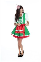 Tyrolean Gerti green dress,apron