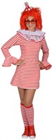 Dress stripes red/white (dress,headband)