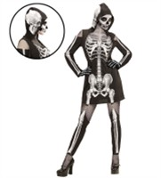Hooded dress skeleton with legging