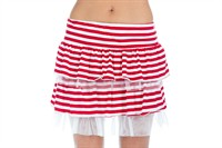 Skirt striped short red/white
