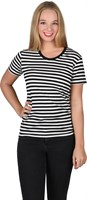 Striped shirt girlie black/ white