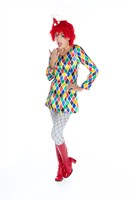 Kleid Clown Pastell Multi