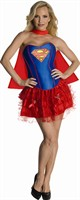 Supergirl corset dress adult (Corsage,Minirock,Cape)