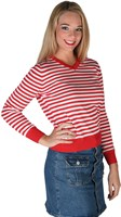 Striped sweater  red/white Lady