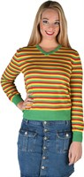 Striped sweater  red/yellow/green Lady