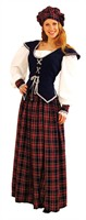 Scottish woman Scarlet (top/skirt/cap)