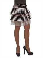 Ringel skirt black / white short