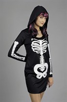 Skeletal hooded dress