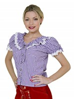 Tyrolean blouse Oktoberfest purple/white