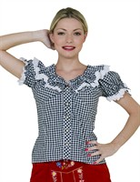 Tyrolean blouse Oktoberfest black/white