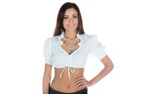 Dirndl blouse wit