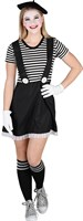 Dress striped black / white