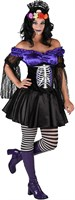 Dress Skeleton purple/black
