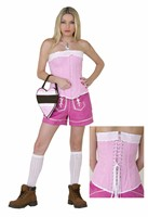 Corset Oktoberfest pink/white checkered (cotton) Top quality