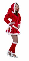 Lady X-Mas (3-pcs) dress with cap, legwarmers, belt