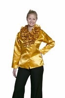 Blouse gold with ruffles woman