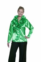 Blouse with Ruffles green  Lady