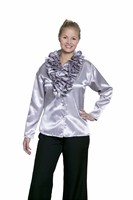 Blouse with Ruffles silver  Lady
