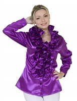 Blouse with frills purple lady