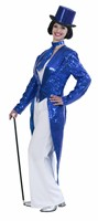 Sequinned  tailcoat blue luxury