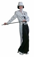 Sequinned  tailcoat silver luxury