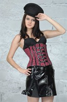 Corset latex pink panter