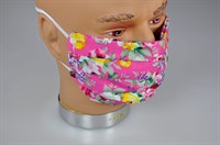Textile mask flowers pink