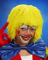 Wig yellow wool clown