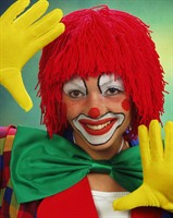 Wig red wool Clown