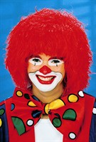 Wig red clown