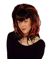 Wig black-red Vamp