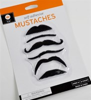 Mustaches black 6 pieces