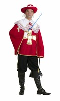 Musketeer Edward red (trousers/top with collar)