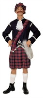 Scotsman luxurious (kilt/ jacket/  cap/  jabot/  belt/  bag)