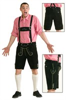 Tyrolean pants black Oktoberfest (real leather with embroidery)