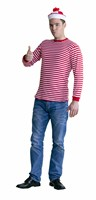 Red & white striped jumper