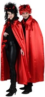 Cape rood halloween (satijn)