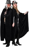 Cape black velvet halloween