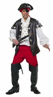 Pirate captain (blouse / vest / trouser / headband)